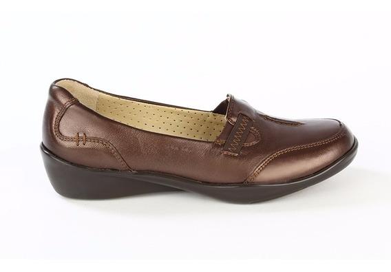 Zapatos Calzado Mocasines Dama 1144 Onena Cafe O Negro 2x