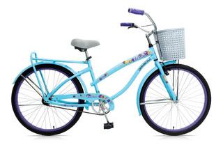 Bicicleta Dama Rodado 26 Gribom Brisa 3060 Canasto Portaequipaje