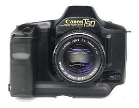 Câmera Canon T-90 C/ 50mm 1:1.4 (analógica).