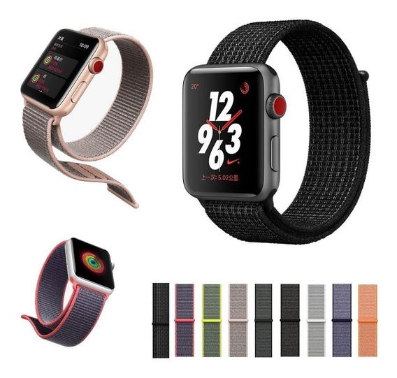 Correa Nylon Extensible Apple Watch 38 Y 42mm Varios Colores