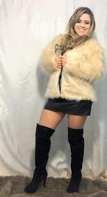 Casaco De Pele Moda Blogueira