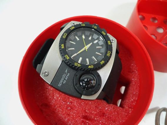 Relógio Speedo 10 Atm C/ Bussola - Novinho Sem Uso