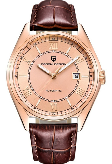 Pagani Design Top Luxury Automático Rose Gold Piel Diego Vez