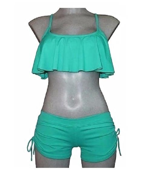 Mujer. Traje De Baño Dama. Short + Top. Bikini, Playa