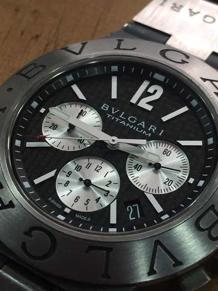 Reloj Bvlgari Chrono Titanio 44mm No Rolex Cartier Panerai