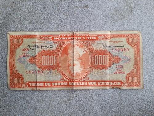 Vende-se Uma Nota De Mil Cruzeiros Por 300