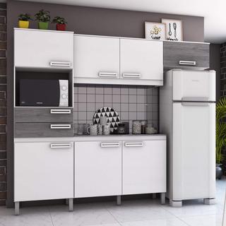 Cozinha Compacta Com Tampo 7 Portas 2 Gavetas Jasmine Gi
