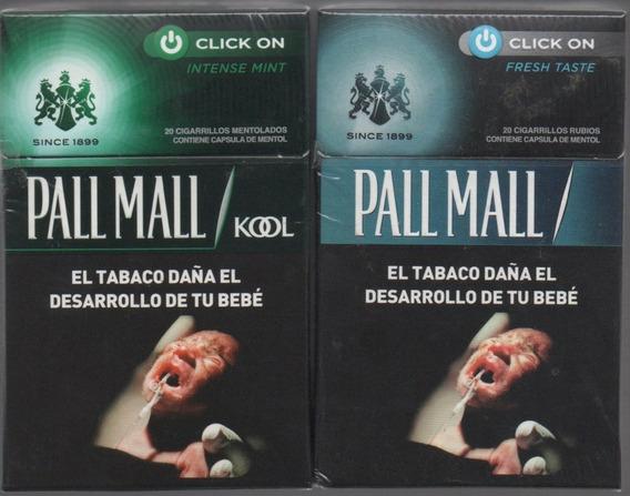 2 Atados Pall Mall Box Kool Y Normal Con Filtro Mentolado