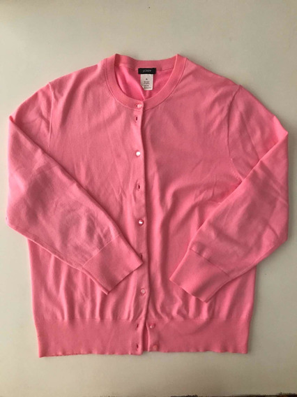 Cardigan Rosa Chicle. Marca J. Crew (usa). Talle Xl