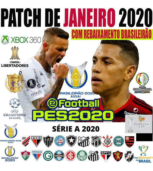 Patch Pes 2019/2020 Xbox 360 Atz Agosto 2019 Via Pendrive