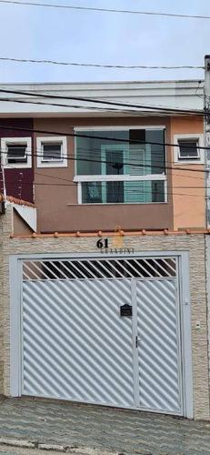 Sobrado Com 3 Dormitórios À Venda, 93 M² Por R$ 455.000,00 - Jardim Alvorada - Santo André/sp - So0177