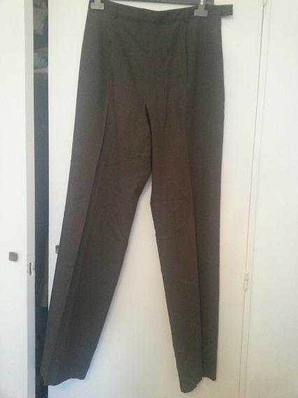 Pantalon De Lana Fria Adolfo Dominguez Nuevo T46 Marron
