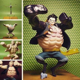 Escultura Luffy Gear 4 One Piece, Plastilina Epóxica, 15 Cm