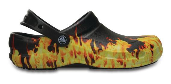 Crocs Originales Bistro Fire Graphics Negro Hombre Mujer