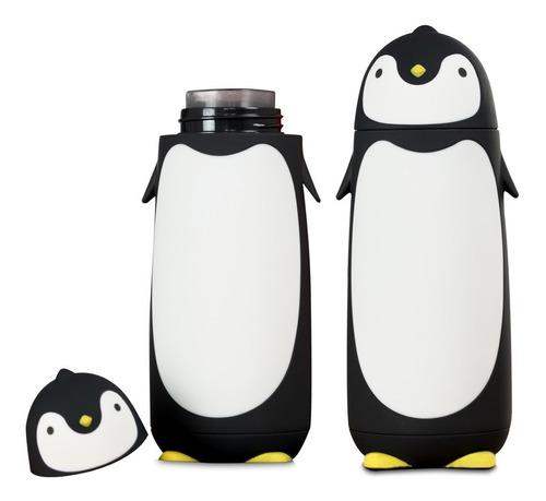 Imagen 1 de 10 de Termo Taza En Forma De Pinguino Negro H1293