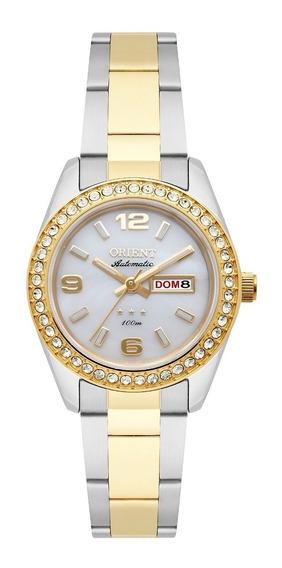 Relógio Orient Feminino Automático 559tt008 B2sx Aço Misto