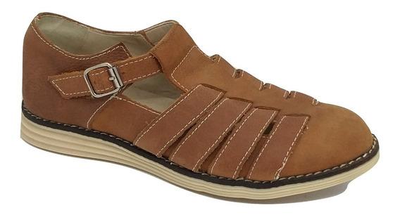 Zapato Cuero Con Hebilla