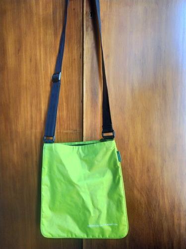 Bolso Bandolera Benetton Original Verde Fluor
