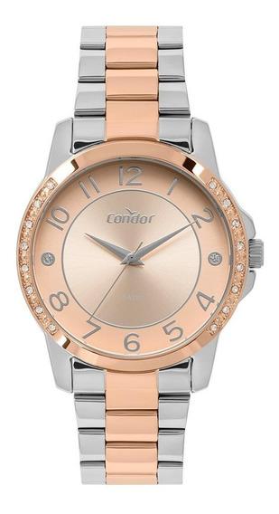 Relógio Condor Feminino Misto Rosê/prata Co2035moq/5j