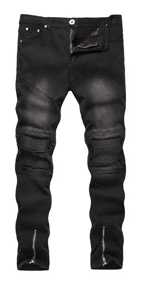 Pantalon Negro Roto Hombre Mercadolibre Com Mx