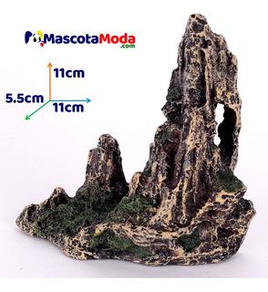 Roca Tipo Acantilado Con Tunel Decoracion Peceras Pequeñas