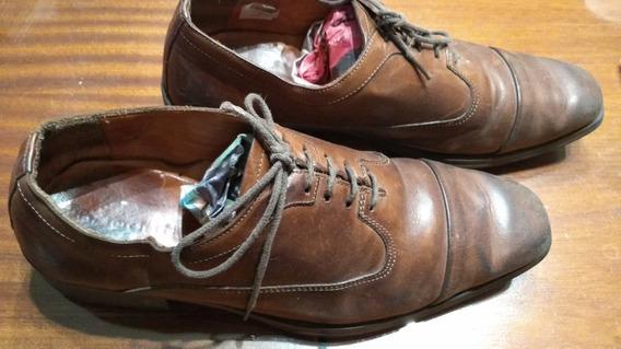 Zapatos De Cuero Suela Oggi Nro 41