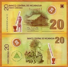 Nicaragua 20 Córd. 2007 P. 202b Fe Polímero (20 Branco) Tche