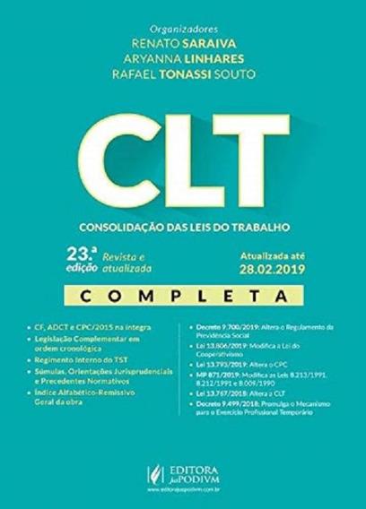 Clt - Consolidacao Das Leis Do Trabalho - Saraiva - Juspodiv