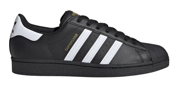 Zapatillas adidas Original Superstar Moda Negro