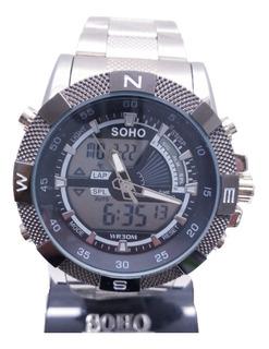 Reloj Hombre Soho Análogo Digital Ch-95 Agente Oficial