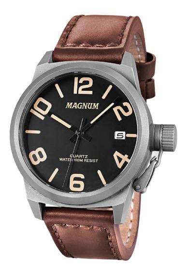 Relógio Masculino Magnum Pulseira Couro Ma33433c