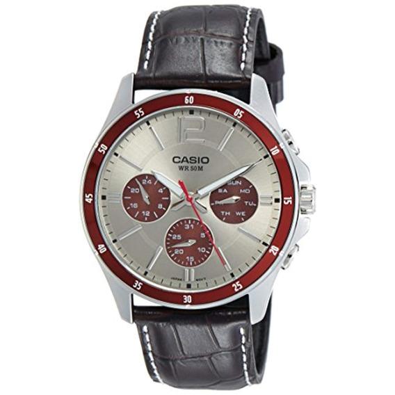Casio Mtp1374l-7a1 Reloj De Marcado Plata