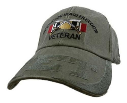 Us Ejercito Libertad Iraqui Veterano Bordado Sombrero  Cierr