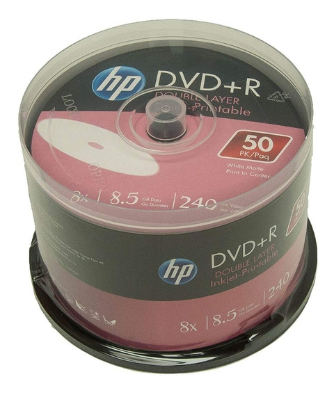 50 Dvd+r Printable Dl Hp Dual Layer 8.5gb Cmc Magnetcs Xbox