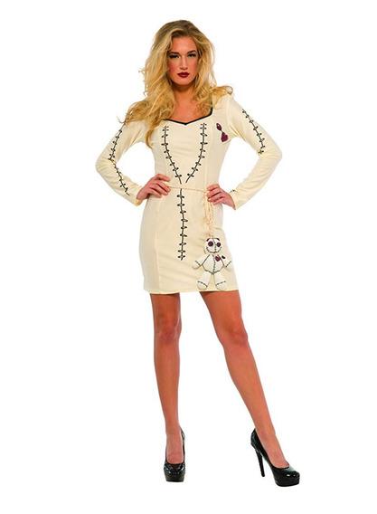 Disfraz Mujer Muñeca Voodoo Halloween Talla Mediano
