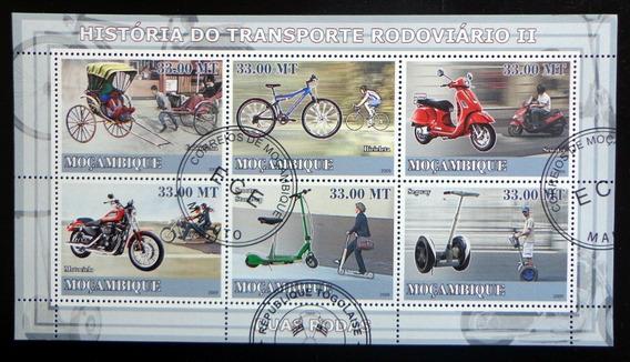 Mozambique Transporte, Bloque 6 Sellos Motos 09 Usado L9861