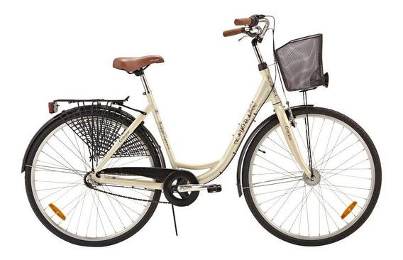 Bicicleta Retro Vintage Aro 28 Clássica Com Cesto Kayoba