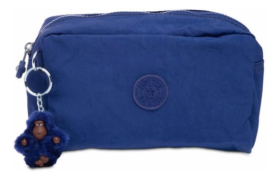 Kipling Cosmetiquera O Lapicera Original Gleam Azul