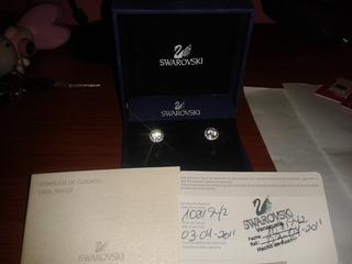 Zarcillos (aretes) Swarovski Certificado De Autenticidad