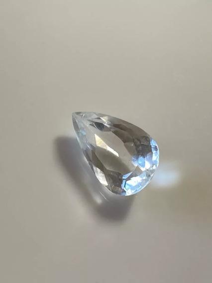 Cristal Extraído Gota Natural 4,035 Cts 14x9 Mm. Belo!