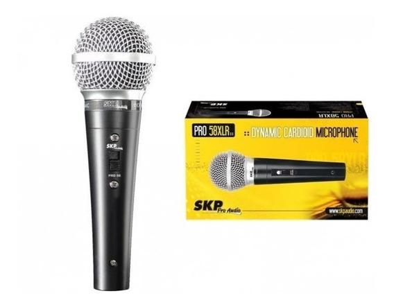 Micrófono Dinamico Skp Pro 58 Con Cable Y Ficha Xlr