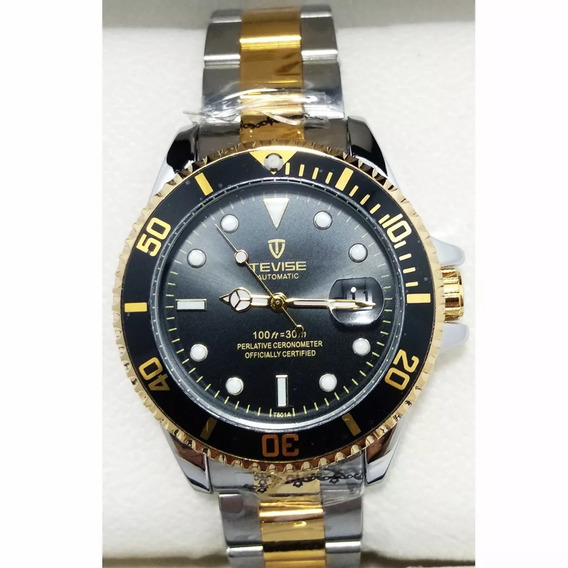 Relógio Tevise Automático Presente Tipo Rolex Muito Top