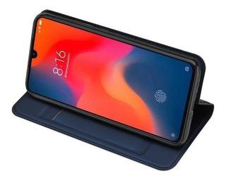 Capa Carteira Xiaomi Mi 9, Se Preto Pelicula Gel Kitlimpeza