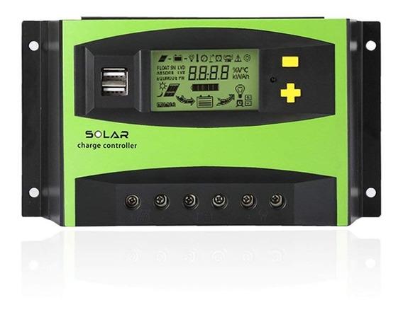 Controlador De Carga Painel Solar 40a Regulador 12v 24v