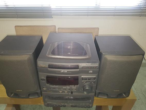 Microsystem Aiwa Nsx-v20 Funcionando Rádio E Toca-fitas