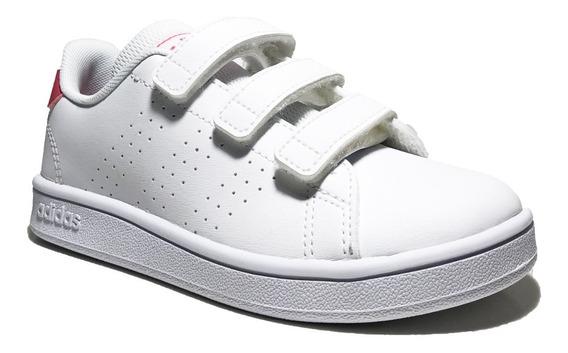 Tenis adidas Escolar Para Niña Blanco/rosa Advantage Ef0221