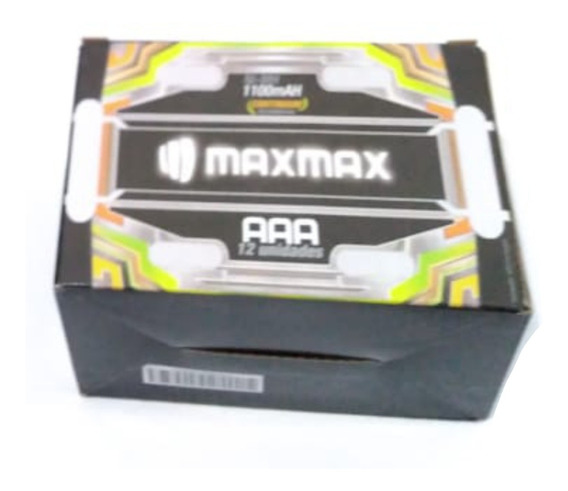 12 Cartelas De 2 Uni Pilhas Recarregável Aaa 1100 Mah
