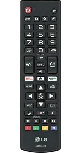 Imagem 1 de 5 de Controle Remoto LG Smart Akb75095315 Tecla Netflix / Amazon