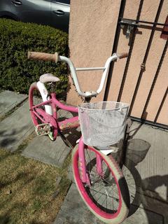 Bicicleta Para Niña Hello Kitty Rodada 20 Marca Bmx