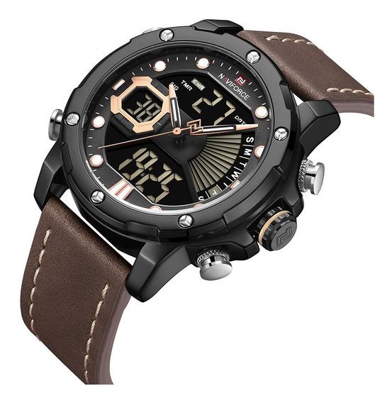 Relógio Masculino Digital Esportivo Naviforce Lançamento